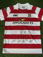 More details for wigan warriors rugby league shirt hand signed by 16 of 2021 squad - hastings isa
