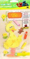 Big Bird  Sesame Street Teddy Bear Crayons Flowers Jolee's 3D Sticker
