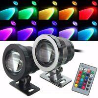 Waterproof RGB LED Flood Light Underwater Fountain Aquarium Spotlight Bulb Lamp