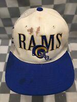 Vintage Los Angeles RAMS Light Up Pro Line NFL Snapback Adult Baseball Cap Hat