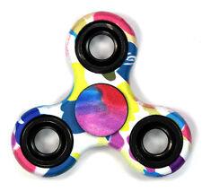 Color Art Splash - Tri FIDGET Spinner Smooth Ceramic Hand SPINNER Desk Toy