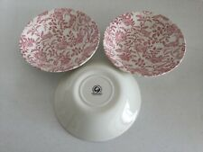 3 Churchill Pink PEONY Coupe Soup Bowl s  Made in England 7 7/8""
