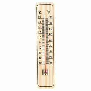 🔥Traditional Wooden Wall Thermometer Garden Large Patio Shed Greenhouse Home UK