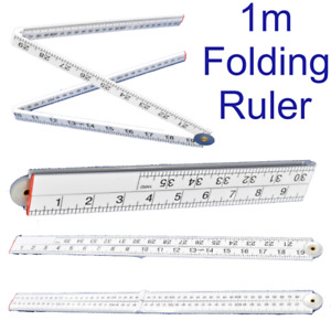 Folding Plastic Ruler 1m 3ft Easy to Read Metric Imperial Markings MS165