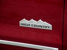 1x OEM HIGH COUNTRY Emblem Badge door tailgate Silverado F1 Genuine Chrome
