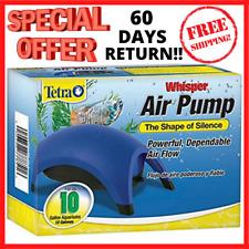 SILENT Air Pump For Fish Tank Aquarium Water 10 40 60 100 Gallons FREE SHIPPING