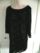 **PHASE EIGHT** black stretch lace dress - Size 14