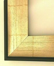 """Custom cut 2.5"""" 2-1/2"""" Textured Gold Black Bamboo Pattern Picture Frame Moulding"""