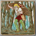 """6"""" JANUARY TILE ARTS CRAFTS PRINTED HAND COLOURED LUCIEN BESCHE COPELAND C.1880"""