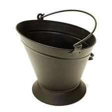 Vintage Black Fireside Coal Fire Log Scuttle Bucket Kindling Hod Firelog Fuel