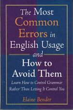 The Most Common Errors in English Usage and How to
