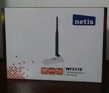 ADATTATORE RETE WIRELESS WIFI USB 150Mbps CHIAVETTA +antenna 5dbi netis wf2119