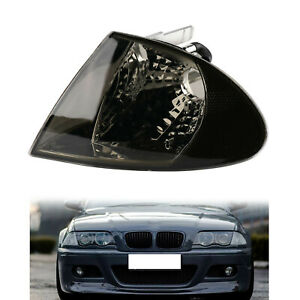 Smoked Corner Turn Lights Parking Signal Indicator For 98-01 BMW 3 Series E46