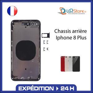 Châssis arrière IPhone 8 Plus Noir Gold Blanc Rouge (logo, ce ....)