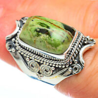 Australian Green Opal 925 Sterling Silver Ring Size 6 Ana Co Jewelry R45094F