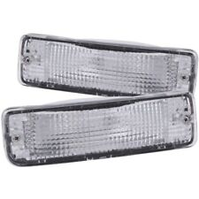 ANZO for 1989-1995 Toyota Pickup Euro Parking Lights Chrome w/ Amber Reflector -