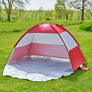 Easy Up UPF40 Pop up Beach Tent Hiking UV Protection Patio Sun Shade Shelter