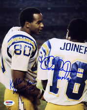 Kellen Winslow & Charlie Joiner SIGNED 8x10 Photo San Diego Chargers ITP PSA/DNA