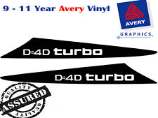 HILUX D4D Turbo Decal Sticker For 2 Fin Small Bonnet Scoop 2005 TO 2011 4X4