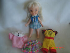 """1964 Remco Industries 5 1/2"""" Heidi Blonde Doll w/ Stomach Button for Arm Wave"""