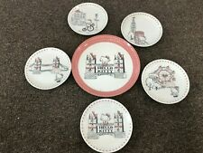 Hello Kitty London Plate 6 Piece Set HK100-52 215mm 140mm Yamaka from Japan