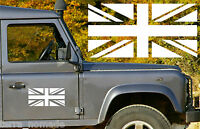 Union Jack Flag Sticker GB, Wolf, Army Land Rover, 30cm x 15cm x 2