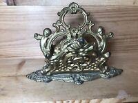 Vintage Brass Gold Letter Mail Holder Cherubs Napkin Holder Hollywood Regency
