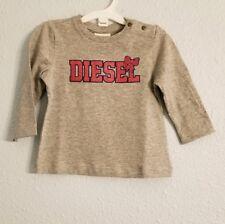 Diesel Girls long sleeve top - 6M - Gray