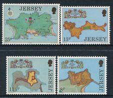 1980 JERSEY FORTRESSES SET OF 4 FINE MINT MNH