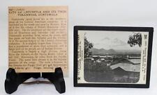 Keystone View Co. Magic Lantern Slide - City of Escuintla Volcanoes Guatemala