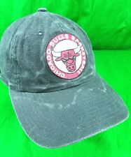 Vintage Chicago Bulls Distressed Basketball Strapback Snap Relaxed Sun Faded Cap
