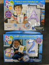 Educational Insights Playfoam Shape & Learn Set Of 2: Alphabet Letters & Numbers