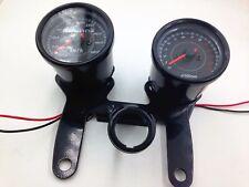 LED Motorbike Tachometer Tacho Gauge Odometer Speedometer Cafe Racer Custom GN
