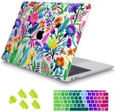May Chen MacBook Air 13 Inch Case Crystal Clear Hard Shell Floral Leaves Garden