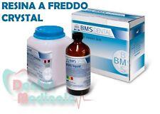 Resina per ortodonzia 500g+250ml colorecrystal,odontotecnico,riparazioni protesi