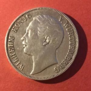 Vereinsthaler 1857 Wilhelm König von Württemberg, Silbermünze