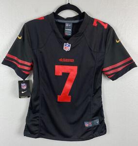 Nike Womens Colin Kaepernick NFL On Field Jersey 49ers San Francisco SMALL Black
