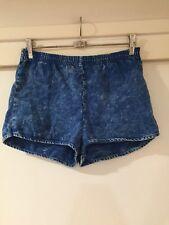 American Apparel Ladies Blue Acid Wash Short Shorts Size XS Good Condition
