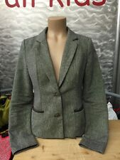 Vero Moda chaqueta blazer Mandys tweed talla 34 marrón ellbow Patch impecable