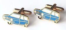 Blu Pettirosso Reliant Auto Smalto con Pennacchio Gemelli (N258) in Scatola