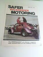 VOLKSWAGEN SAFER MOTORING June 1979 Vintage Illustrated Magazine + Adverts