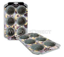 6 Taza de acero al carbono Antiadherente Muffin Bandeja Pudding Estaño Cupcake Moldes Para Hornear Pan