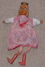 Principessa bambola a mano da Arlecchino-Teatro/legno testa legno + Stivali + legno mani