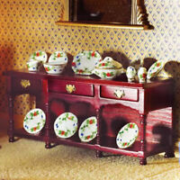 1/12 Scale Dolls House Emporium Mahogany Victorian Sideboard with Pot Shelf 2017