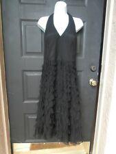 NEW WHITE HOUSE BLACK MARKET DRESS BLACK SILK SZ 12 MED LG LINED $164