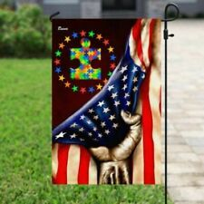 Autism Awareness Independence Day 4th Of July Flag 29.5� x 39.5�/ 11.5� x 17.5�