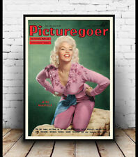 Picture goer 1957 :  Vintage Film magazine cover poster reproduction.