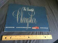 1949 Chrysler New Yorker Saratoga Windsor Royal Color Catalog Brochure Prospekt