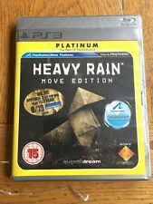 Heavy Rain Move Edition Platinum (großer Riss in Zellophan) - PS3 UK NEU!