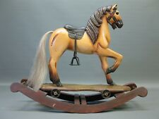 Cavallo di Legno Cavallo a Dondolo Karusellpferd Cavallo 60 x 50 x 22 Cm